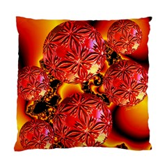 Flame Delights, Abstract Red Orange Cushion Case (Single Sided)