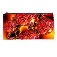 Flame Delights, Abstract Red Orange Pencil Case