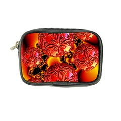 Flame Delights, Abstract Red Orange Coin Purse