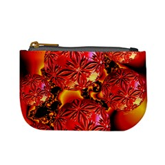Flame Delights, Abstract Red Orange Coin Change Purse