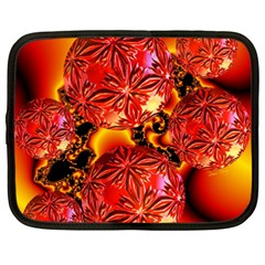 Flame Delights, Abstract Red Orange Netbook Sleeve (xxl)
