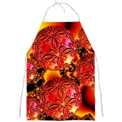 Flame Delights, Abstract Red Orange Apron