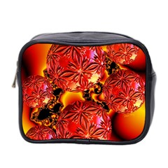 Flame Delights, Abstract Red Orange Mini Travel Toiletry Bag (two Sides)