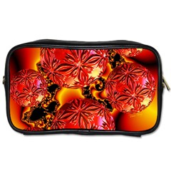 Flame Delights, Abstract Red Orange Travel Toiletry Bag (two Sides)