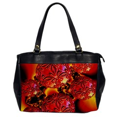 Flame Delights, Abstract Red Orange Oversize Office Handbag (one Side)