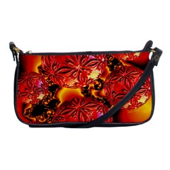 Flame Delights, Abstract Red Orange Evening Bag