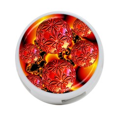 Flame Delights, Abstract Red Orange 4-Port USB Hub (Two Sides)