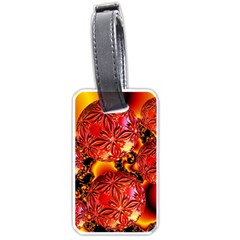 Flame Delights, Abstract Red Orange Luggage Tag (Two Sides)