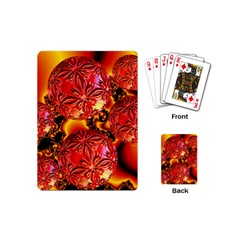 Flame Delights, Abstract Red Orange Playing Cards (Mini)