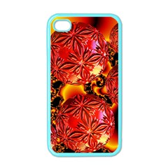 Flame Delights, Abstract Red Orange Apple Iphone 4 Case (color)