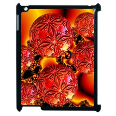 Flame Delights, Abstract Red Orange Apple iPad 2 Case (Black)
