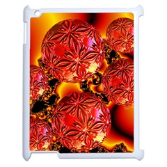 Flame Delights, Abstract Red Orange Apple Ipad 2 Case (white)