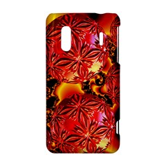 Flame Delights, Abstract Red Orange HTC Evo Design 4G/ Hero S Hardshell Case