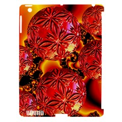 Flame Delights, Abstract Red Orange Apple Ipad 3/4 Hardshell Case (compatible With Smart Cover)