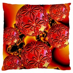 Flame Delights, Abstract Red Orange Large Cushion Case (Single Sided)