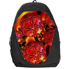 Flame Delights, Abstract Red Orange Backpack Bag
