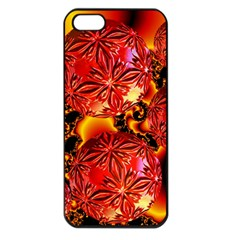 Flame Delights, Abstract Red Orange Apple Iphone 5 Seamless Case (black)