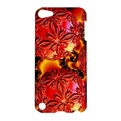 Flame Delights, Abstract Red Orange Apple Ipod Touch 5 Hardshell Case