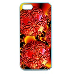 Flame Delights, Abstract Red Orange Apple Seamless iPhone 5 Case (Color)