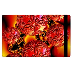 Flame Delights, Abstract Red Orange Apple iPad 2 Flip Case