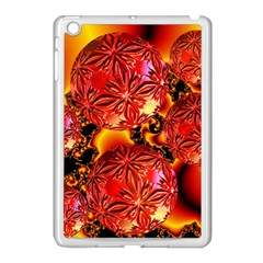Flame Delights, Abstract Red Orange Apple Ipad Mini Case (white)
