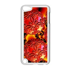 Flame Delights, Abstract Red Orange Apple iPod Touch 5 Case (White)