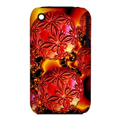 Flame Delights, Abstract Red Orange Apple iPhone 3G/3GS Hardshell Case (PC+Silicone)