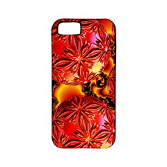Flame Delights, Abstract Red Orange Apple Iphone 5 Classic Hardshell Case (pc+silicone)