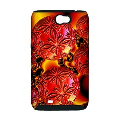Flame Delights, Abstract Red Orange Samsung Galaxy Note 2 Hardshell Case (PC+Silicone)