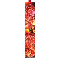 Flame Delights, Abstract Red Orange Large Bookmark