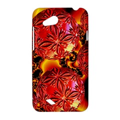 Flame Delights, Abstract Red Orange HTC Desire VC (T328D) Hardshell Case