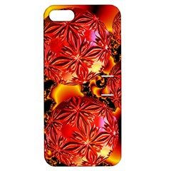 Flame Delights, Abstract Red Orange Apple iPhone 5 Hardshell Case with Stand