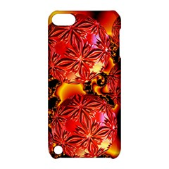 Flame Delights, Abstract Red Orange Apple Ipod Touch 5 Hardshell Case With Stand