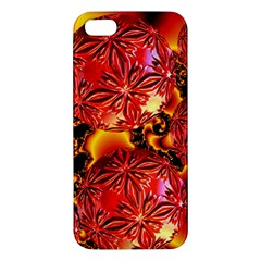 Flame Delights, Abstract Red Orange Apple iPhone 5 Premium Hardshell Case