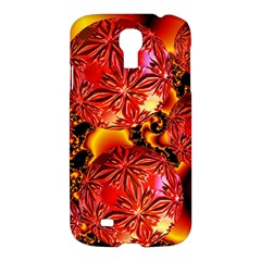Flame Delights, Abstract Red Orange Samsung Galaxy S4 I9500/I9505 Hardshell Case