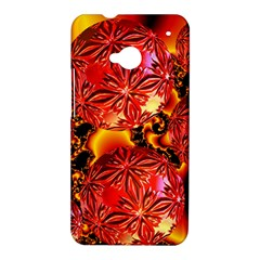 Flame Delights, Abstract Red Orange HTC One Hardshell Case