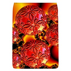 Flame Delights, Abstract Red Orange Removable Flap Cover (Large)