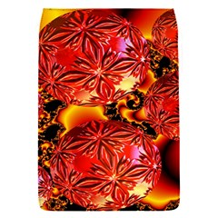 Flame Delights, Abstract Red Orange Removable Flap Cover (Small)