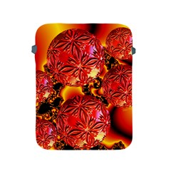 Flame Delights, Abstract Red Orange Apple iPad Protective Sleeve