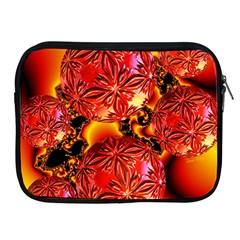 Flame Delights, Abstract Red Orange Apple Ipad Zippered Sleeve