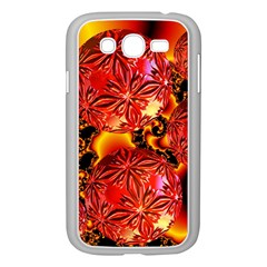Flame Delights, Abstract Red Orange Samsung Galaxy Grand DUOS I9082 Case (White)
