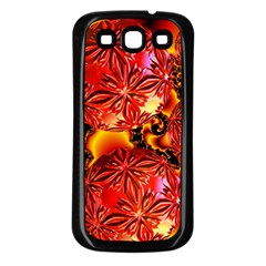 Flame Delights, Abstract Red Orange Samsung Galaxy S3 Back Case (black)