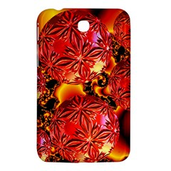 Flame Delights, Abstract Red Orange Samsung Galaxy Tab 3 (7 ) P3200 Hardshell Case