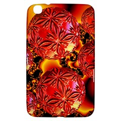 Flame Delights, Abstract Red Orange Samsung Galaxy Tab 3 (8 ) T3100 Hardshell Case
