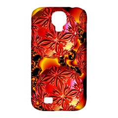 Flame Delights, Abstract Red Orange Samsung Galaxy S4 Classic Hardshell Case (PC+Silicone)