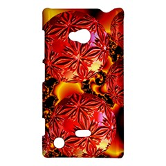 Flame Delights, Abstract Red Orange Nokia Lumia 720 Hardshell Case