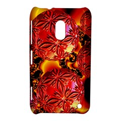 Flame Delights, Abstract Red Orange Nokia Lumia 620 Hardshell Case