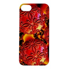 Flame Delights, Abstract Red Orange Apple iPhone 5S Hardshell Case