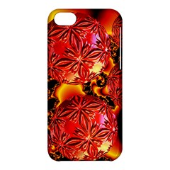 Flame Delights, Abstract Red Orange Apple iPhone 5C Hardshell Case