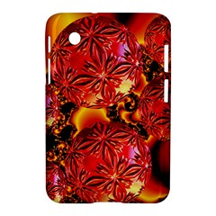 Flame Delights, Abstract Red Orange Samsung Galaxy Tab 2 (7 ) P3100 Hardshell Case